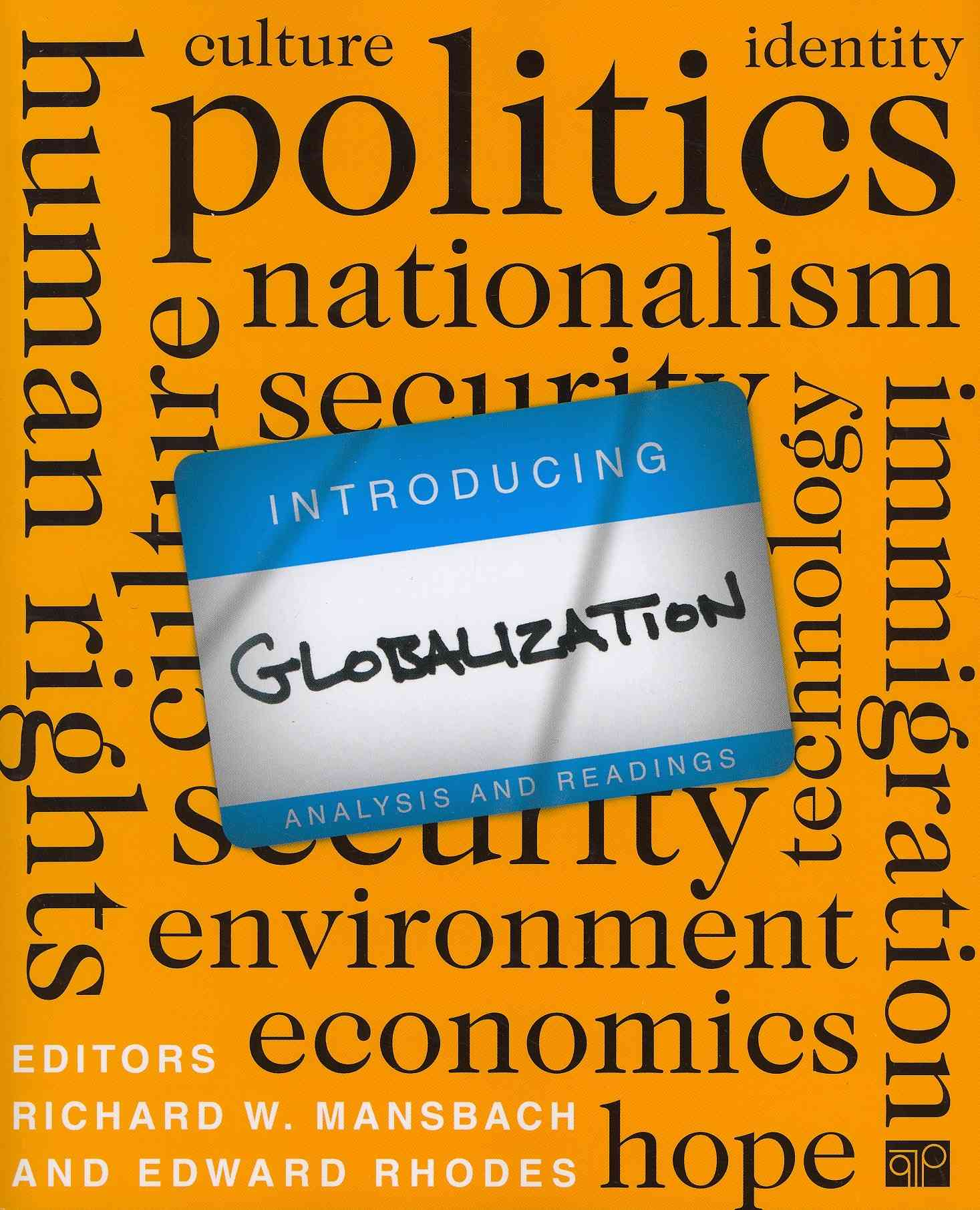 Introducing Globalizational Analysis and Readings By Manscach, Richard W./ Rhodes, Edward